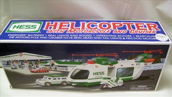 2021: Hess Helicopter w/motorcycle & cruiser