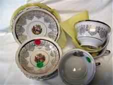 2195: 12 pc cups, saucers & bowls