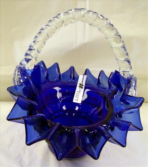 9007: Murano Cobalt Blue Basket