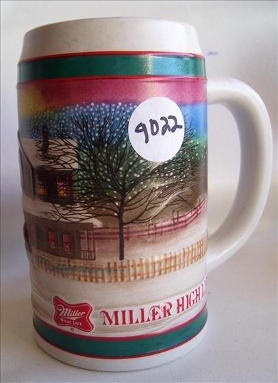 9022: Tankard - Miller High life - Holiday tradition