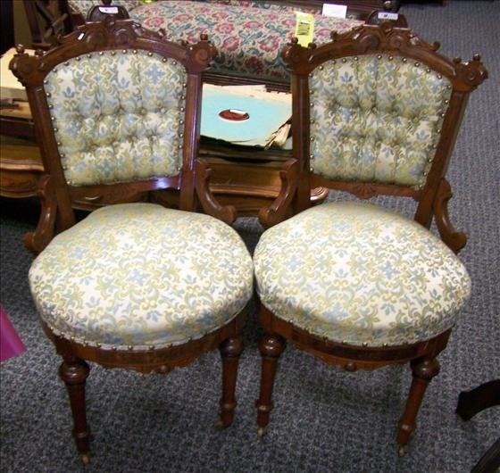 5013: Pair Eastlake parlor chairs