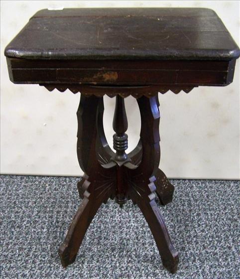 5022: Walnut Eastlake side table carved