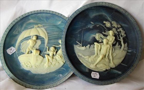 3009: 2 plates - w/box - Isle of Calypso