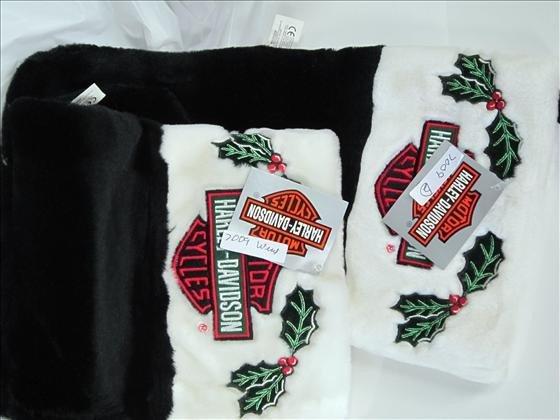7009: 2 Harley Davidson Christmas stockings