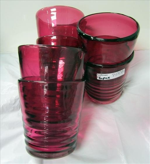 9006: Murano - set 6 glass tumblers