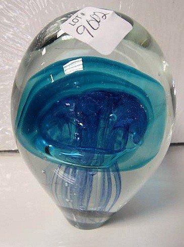 9002: Murano jelly fish paper weight