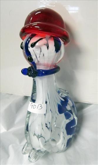 9013: Murano - Cat - blue and white