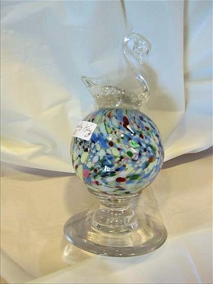 8020: Glass paperweight on pedestal