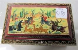 8189: Hand painted wood box