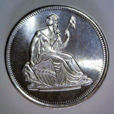 3002: Liberty Seated Silver Round