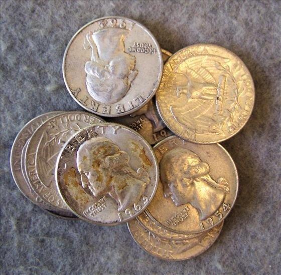 3005: 10 Silver Washington Quarters