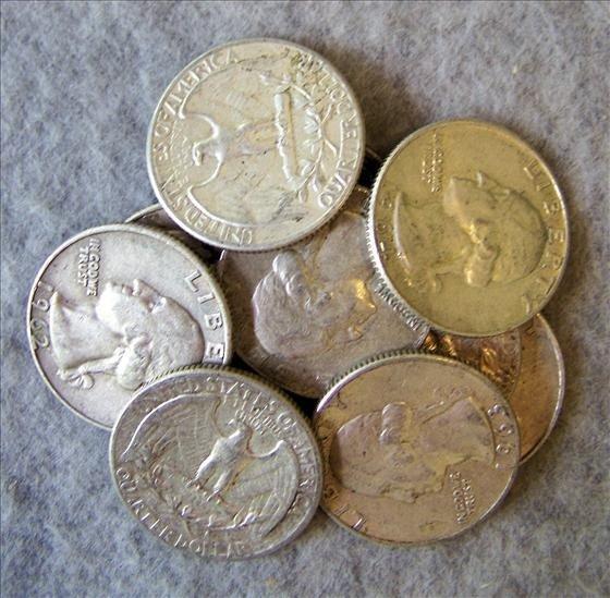 3007: 10 Silver Washington Quarters
