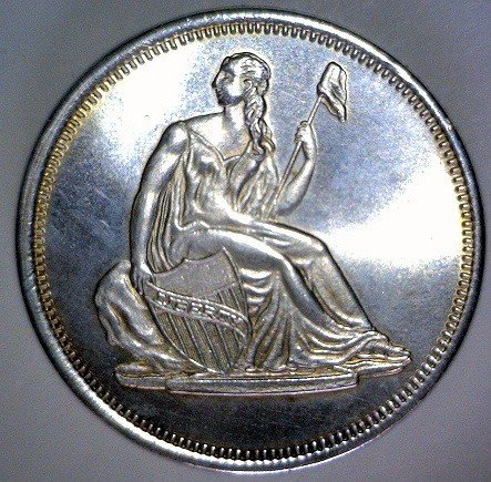 3008: Liberty Seated Silver Round