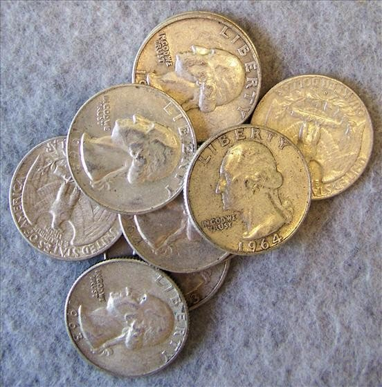 3009: 10 Silver Washington Quarters