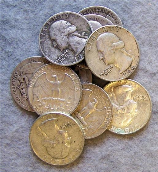 3011: 10 Silver Washington Quarters