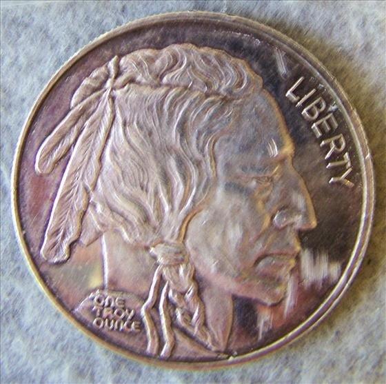 3012: Indian Head Silver Round