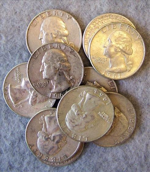 3013: 10 Silver Washington Quarters