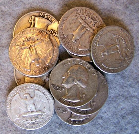 3021: 10 Silver Washington Quarters