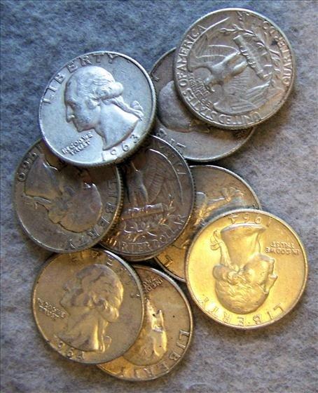 3023: 10 Silver Washington Quarters
