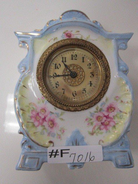 7016: Porcelain dresser clock-impressed 57