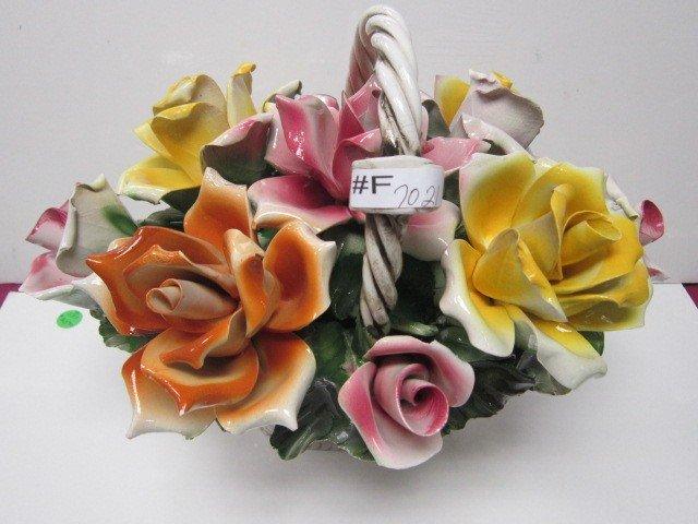 7021: Capodimonte flower basket