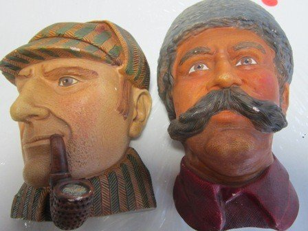 4022: 2 Character heads made in England
