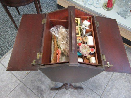 4038: Antique sewing box on legs