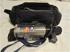 4070 Sony video cameras with case