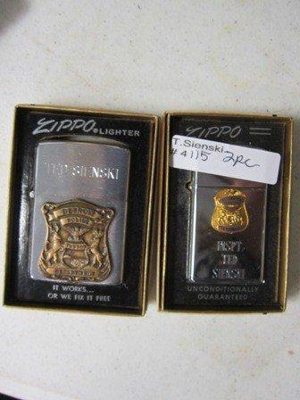 4115: 2 Zippo Lighters in box - INSPT