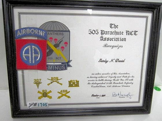 1705: WW2 - Panthers - Airborne Certificate