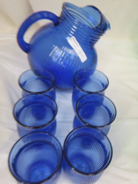 9011: Cobalt blue pitcher