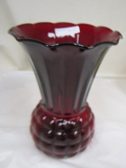 9018: Royal Ruby Fire King Vase