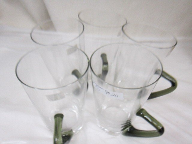 9020: 5 pc.-crystal beer mugs