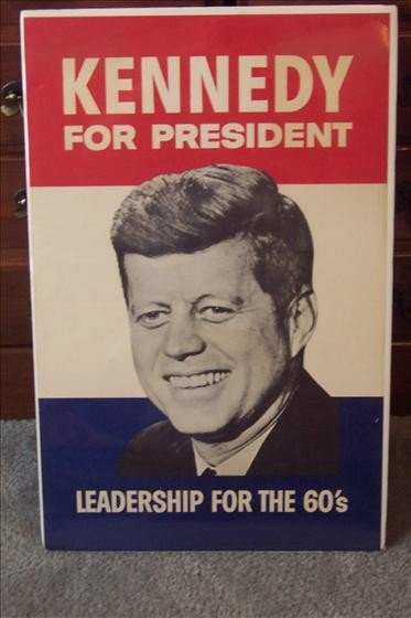 8001: John F. Kennedy Campaign Poster