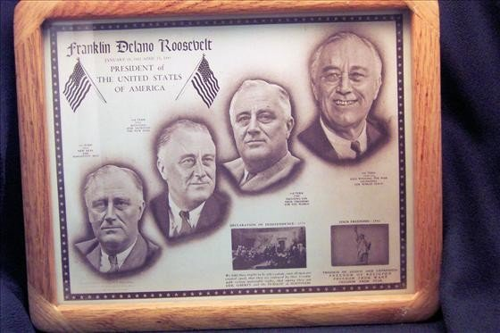 8006: Framed dedication to Franklin D. Roosevelt