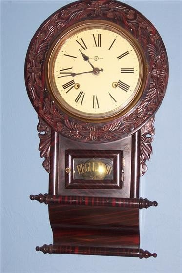 8017: Seth Thomas Wall regulator clock