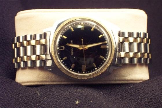 8022: Accutron Asymmetrical Stainless Steel Watch