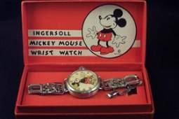 8120: Mickey Mouse Wrist Watch. Ingersoll