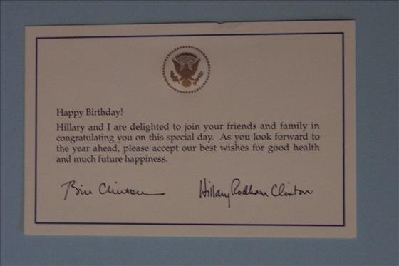 8151: White House Birthday Greetings Card