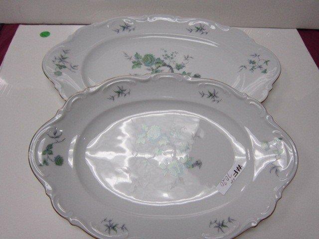 7020: 2 Porcelain platters Mitterteich Bavaria