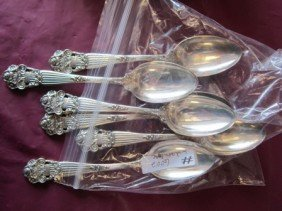 6002: 6 pc Sterling silver spoons-5.5