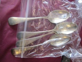 6004: 4 pc Sterling Silver spoons- B.Low