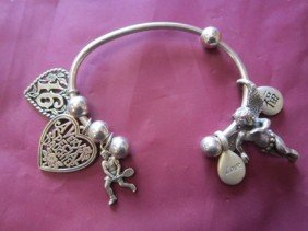 6006: Sterling bracelet and charms-1.2