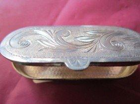 6009: Sterling silver snuff box
