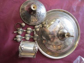 6011: Bag Sterling silver odds and ends 8.8