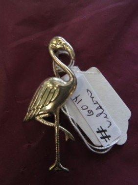 6014: Coro Sterling silver flamingo pin-.1
