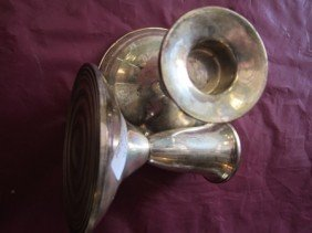 6018: Sterling silver candle holders