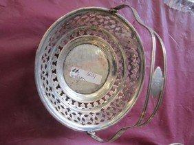 6021: Sterling Silver basket butterfly