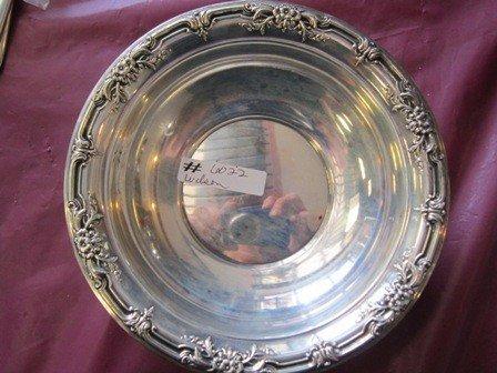 6022: Sterling silver bowl- flower 3.7