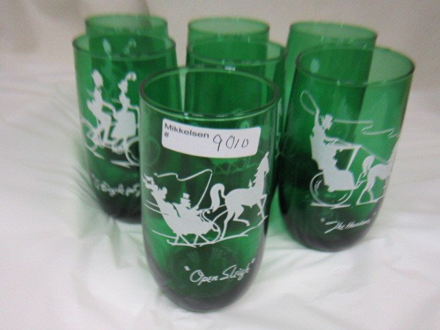 9010: 7 Forest green 9oz tumblers